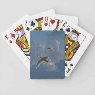 SWANS IN FLIGHT PLAYING CARDS