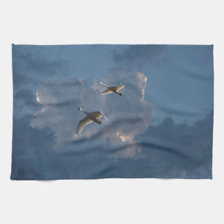 SWANS IN FLIGHT TEA TOWEL