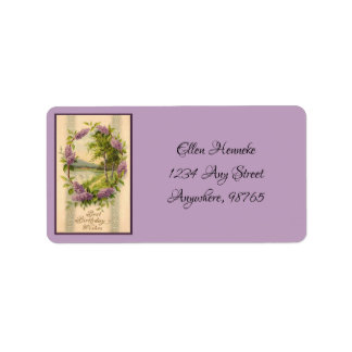 Swans in Lilac Frame Label