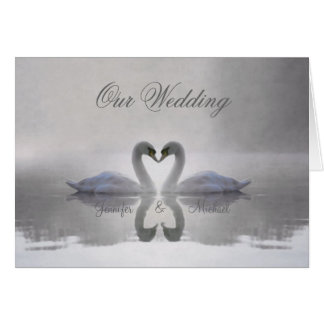 Swans in Love ~ Card / Invitation