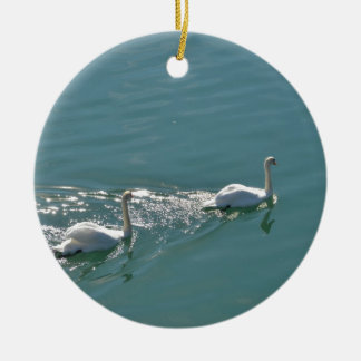 Swans In Sunlight Christmas Ornament