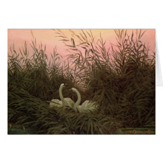 Swans in the Reeds, c.1820 Greeting Card