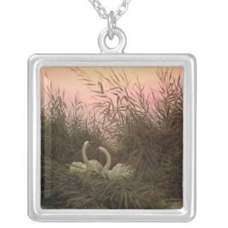 Swans in the Reeds, c.1820 Silver Plated Necklace