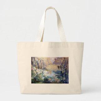 Swans Lake painting Bags