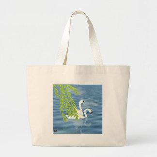 Swans Large Tote Bag