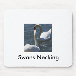 Swans Necking Mouse Mats