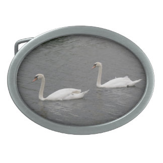 Swans on the River Belt Buckle