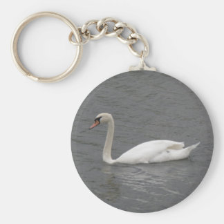 Swans on the River Keychain