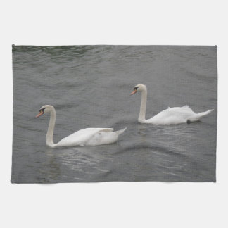 SWans on the River Kitchen Towel