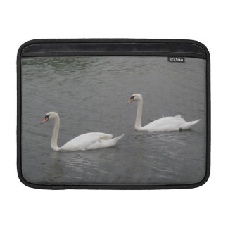 Swans on the River MacBook Air Sleeve