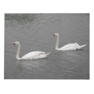 Swans on the River Notepad