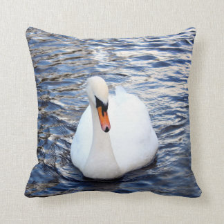 Swans on water cushion