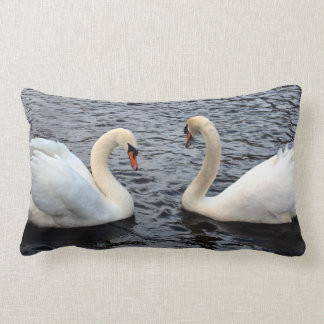 Swans on water lumbar cushion
