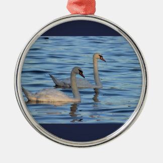 Swans Photo Christmas Ornament