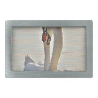 Swans Rectangular Belt Buckle