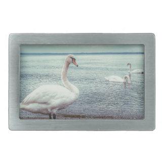 Swans Rectangular Belt Buckles