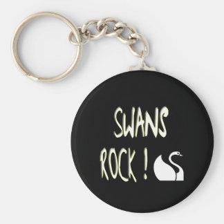 Swans Rock! Keychain