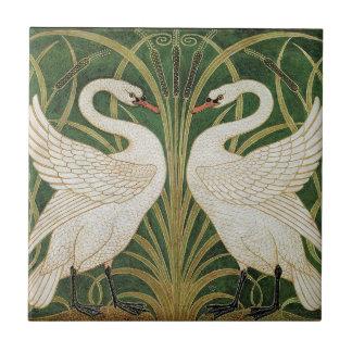 Swans, Rush & Iris by Walter Crane Tile