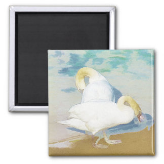 SWANS SQUARE MAGNET