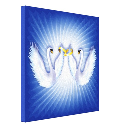 Swans Wedding Stretched Canvas Prints