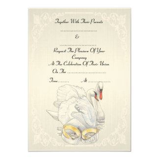 Swans - Wedding Invitation