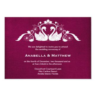 Swans wedding 13 cm x 18 cm invitation card