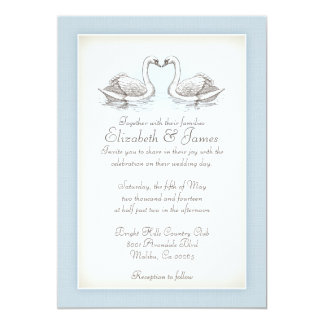 Swans Wedding Invitations