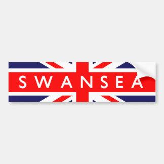Swansea UK Flag Bumper Sticker