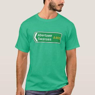 Swansea, UK Road Sign T-Shirt