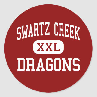 Swartz Creek - Dragons - High - Swartz Creek Round Sticker