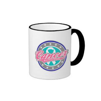 Swash Logo Thyroid Cancer Survivor Ringer Mug