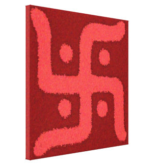 Swastik2 Stretched Canvas Print