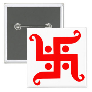 swastika 15 cm square badge