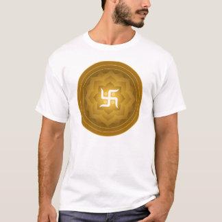 Swastika Lotus Design T-Shirt