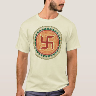 Swastika with Traditional Indian style Mandana T-Shirt