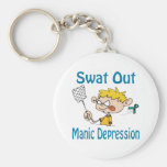 Swat Out Manic-Depression Keychain