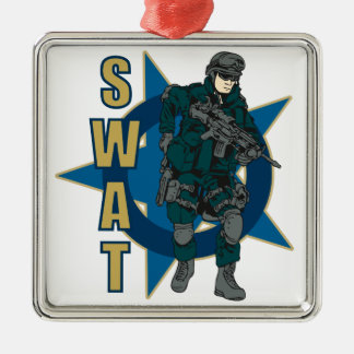 SWAT Police Officer Christmas Ornament