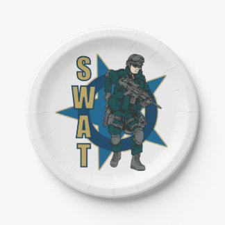 SWAT Police Officer Paper Plate