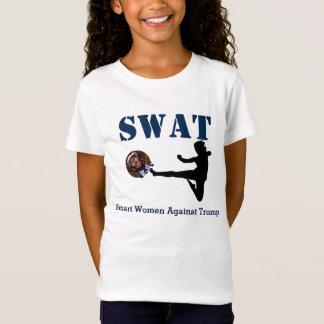 """SWAT: Smart Women Against Trump"" Karate Kick T-Shirt"