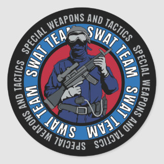 Swat Team Classic Round Sticker
