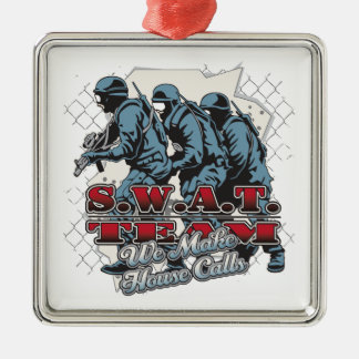 SWAT Team House Calls Christmas Ornament