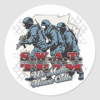 SWAT Team House Calls Classic Round Sticker