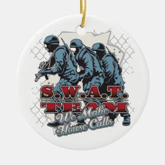 SWAT Team House Calls Round Ceramic Decoration