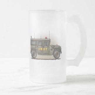 SWAT Team Hummer Frosted Glass Mug