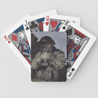 Swat team watercolor playing cards