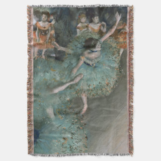 Swaying Dancer, Dancer in Green by Edgar Degas Throw Blanket