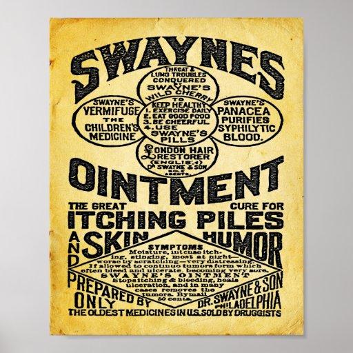 Swaynes Ointment Advertisement Print