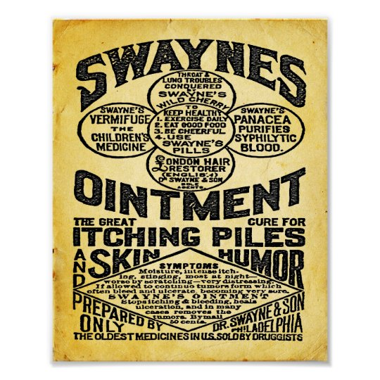 Swaynes Ointment Advertisement Print