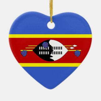 SWAZILAND CERAMIC HEART DECORATION