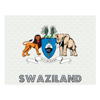 Swaziland Coat of Arms Postcard